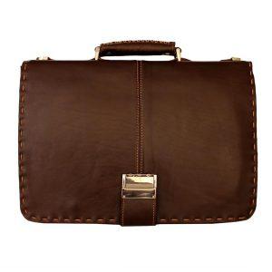کیف چرم تک قفل زیربند دار