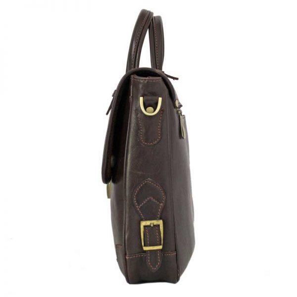 کیف اداری چرم زنانه دو دسته قهوه ای