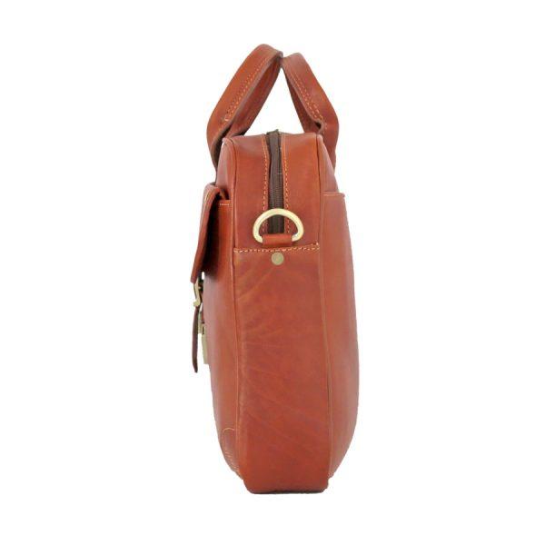 کیف دستی چرم مردانه عسلی