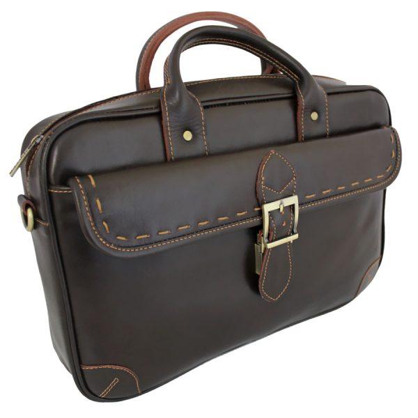 کیف دستی چرم مردانه قهوه ای سوخته