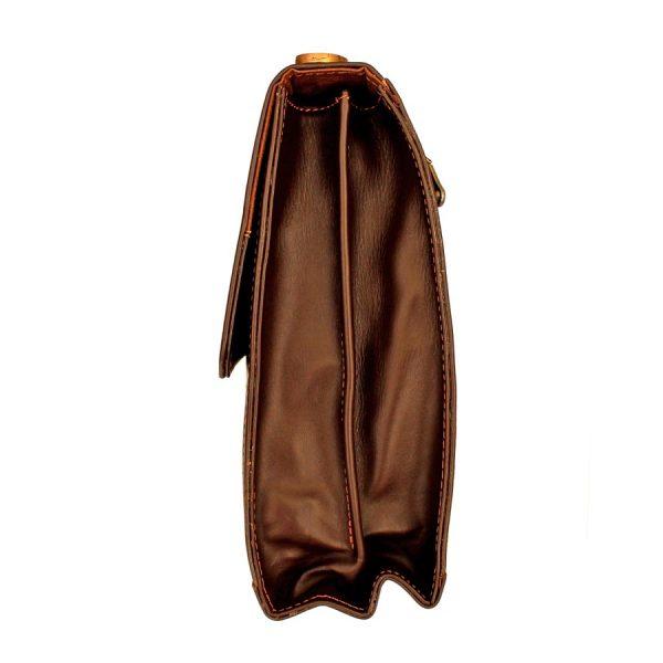 کیف اداری چرم طبیعی تک قفل