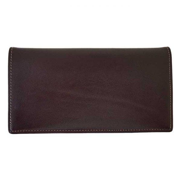 کیف پول پالتویی چرم طبیعی مردانه سه لت