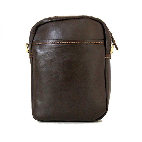 کیف دوشی اسپورت چرمی قهوه ای سوخته