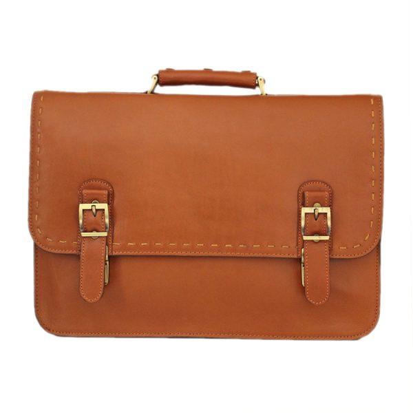 کیف چرم لپ تاپ عسلی