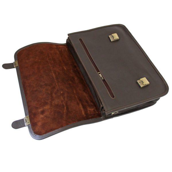 کیف لپ تاپ چرم قهوه ای سوخته
