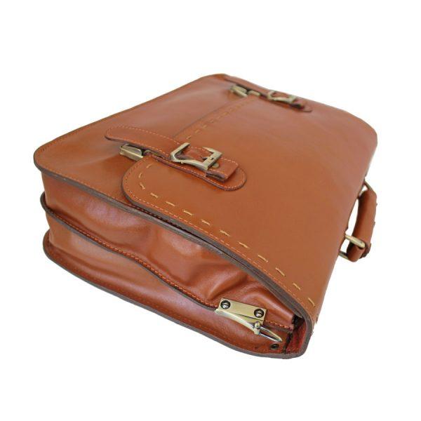کیف اداری مردانه لپتاپی چرم عسلی