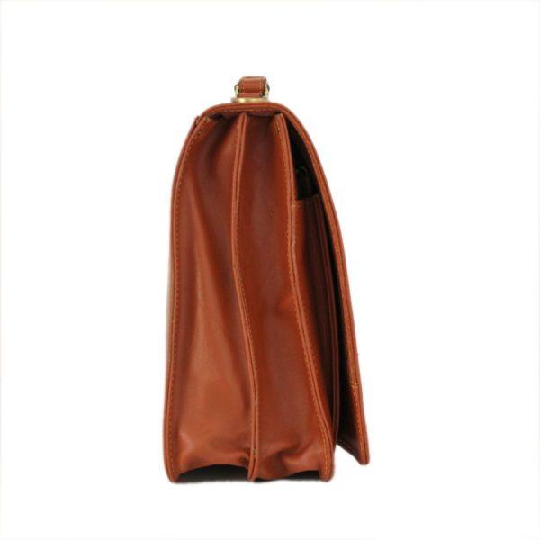 کیف اداری چرمی تک قفل زیر بند دار