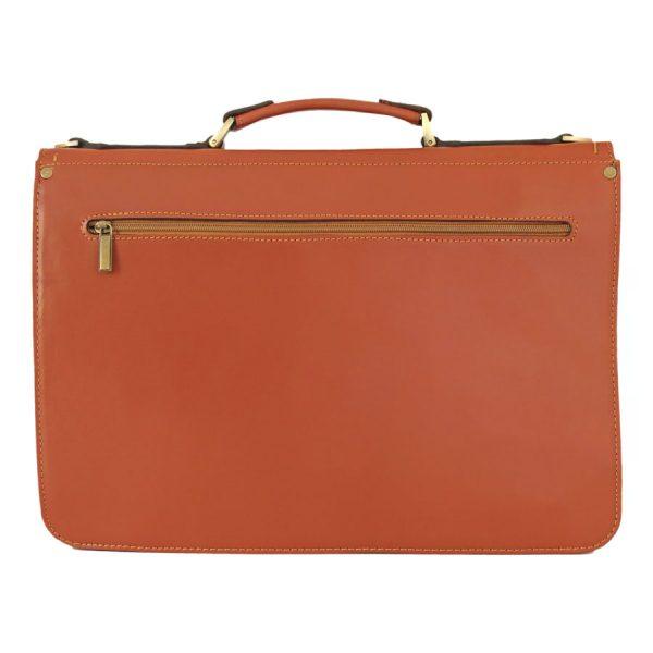 کیف دو قفل چرم مردانه عسلی