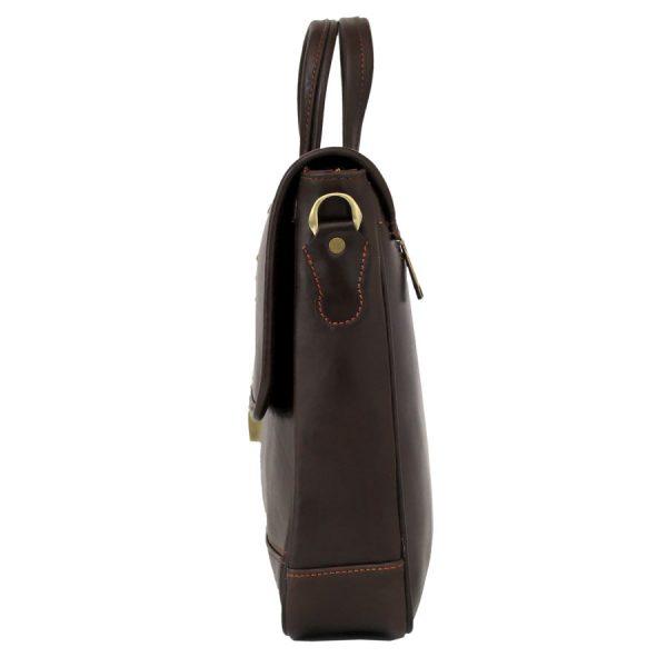 کیف چرم زنانه قهوه ای سوخته دو دسته