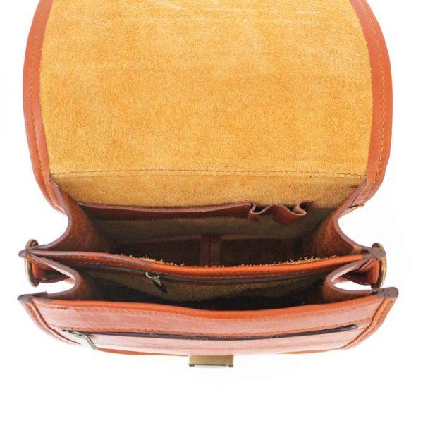 کیف پاسپورتی چرم طبیعی عسلی