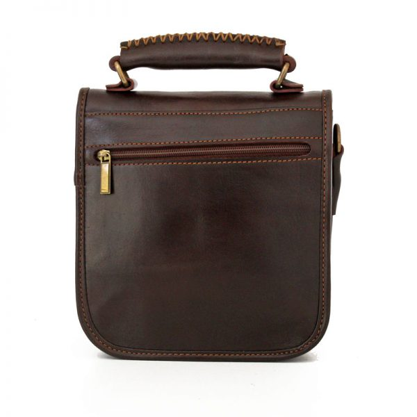 کیف پاسپورتی چرم طبیعی قهوه ای سوخته