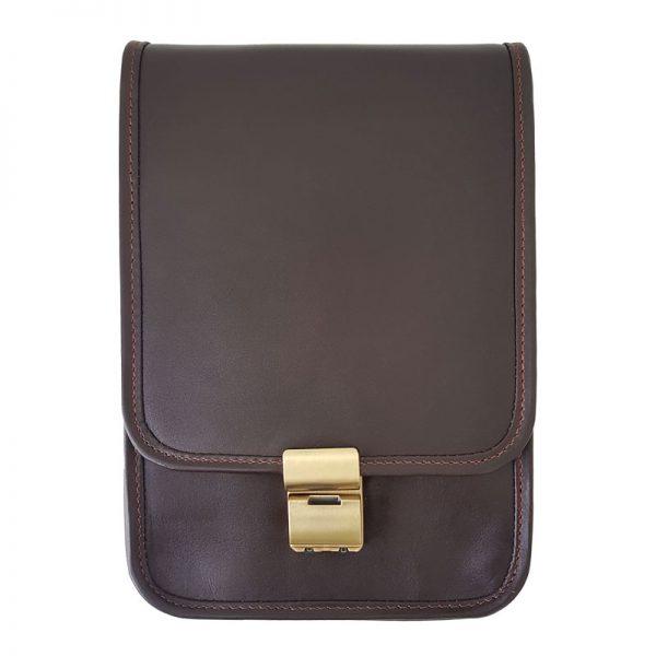 کیف دوشی چرم طبیعی قفل دار