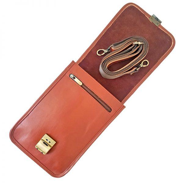 کیف چرم دوشی قفل دار