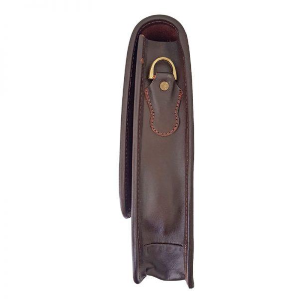 کیف چرم طبیعی دوشی قفل دار