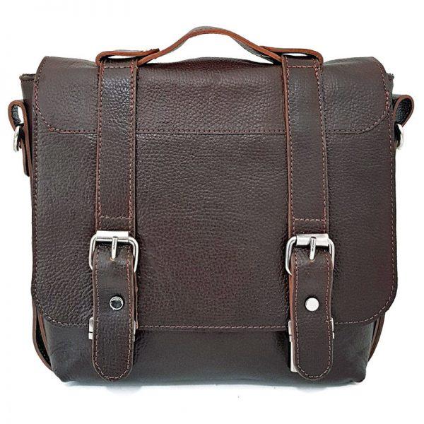 کیف دوشی اسپرت دو قفل چرم