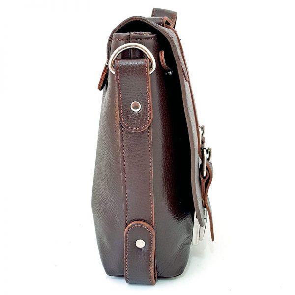 کیف دوشی دو قفل چرم