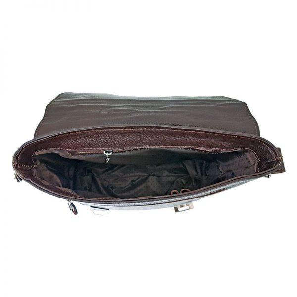 کیف دوشی دو قفل چرمی