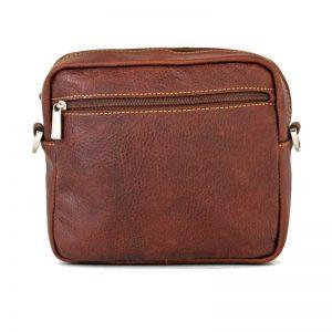 کیف دوشی چرم عسلی مردانه و زنانه