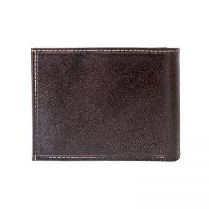کیف پول جیبی چرم مردانه قهوه ای سوخته