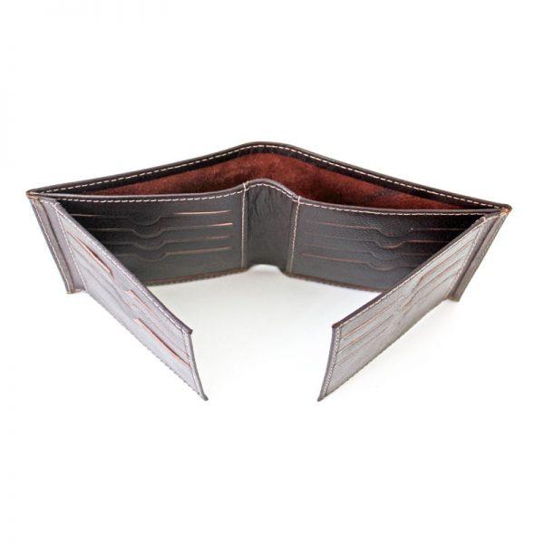کیف پول جیبی چرم مردانه آلبوم دار قهوه ای سوخته