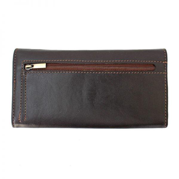 کیف پول چرم زنانه قفل دار قهوه ای