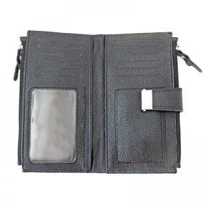 کیف پول چرم اسپرت قفل دار