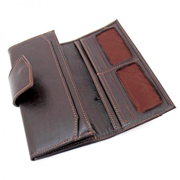 کیف پول چرم زنانه دکمه دار اسپرت
