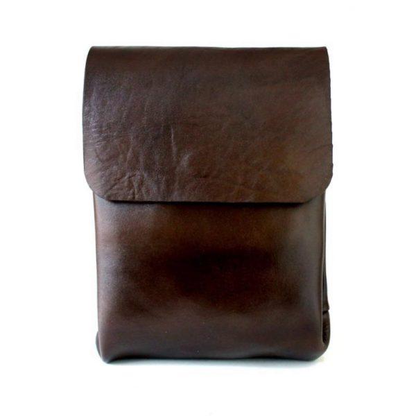 کیف دوشی چرم مردانه و زنانه اسپرت قهوه ای سوخته