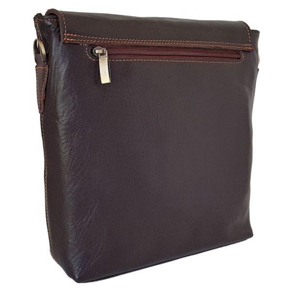 کیف دوشی مردانه اسپرت چرم طبیعی
