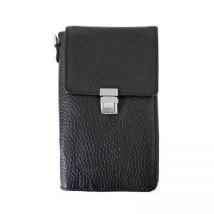 کیف پاسپورتی قفل دار چرم طبیعی
