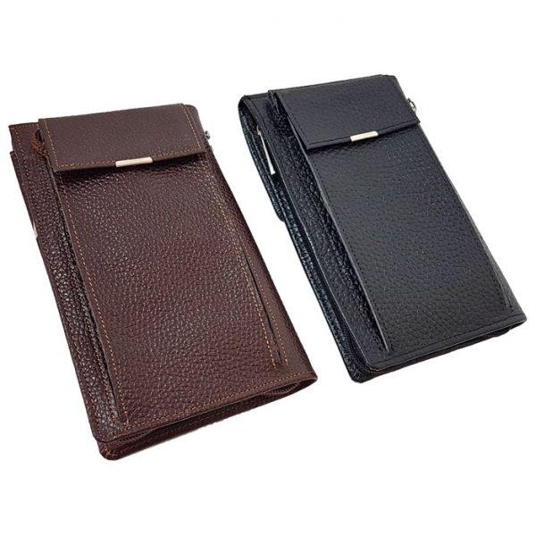 کیف پاسپورتی قفل دار چرم طبیعی زنانه و مردانه