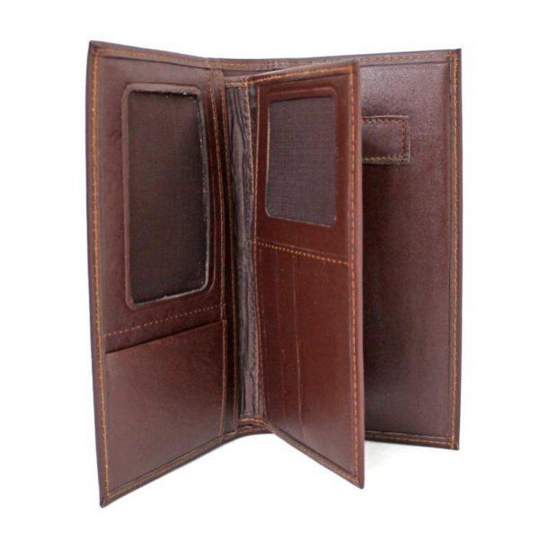 کیف پول کتی چرم مردانه مدیران قهوه ای سوخته
