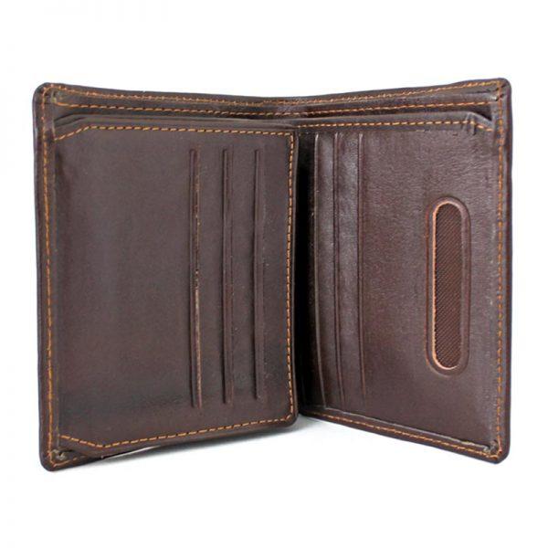 کیف پول جیبی چرم مردانه قهوه ای