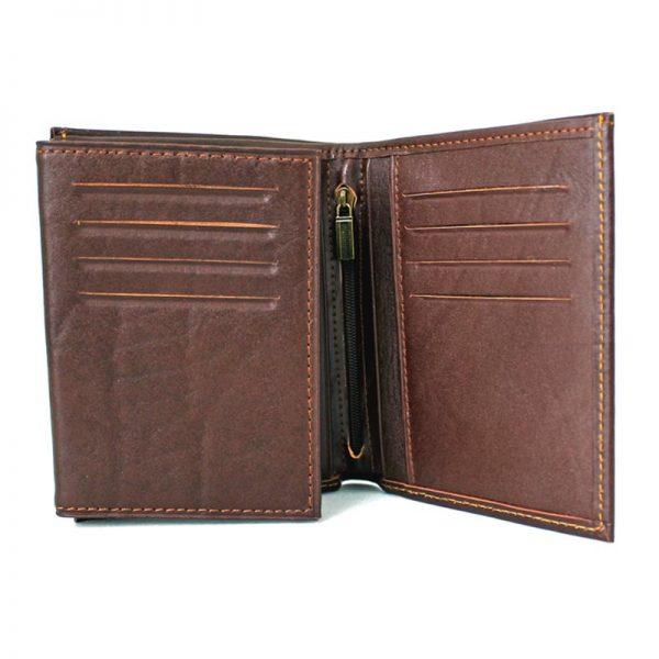 کیف جیبی چرم مردانه قهوه ای
