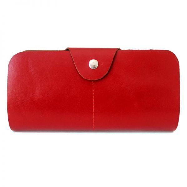 کیف پول اسپرت چرم زنانه قرمز