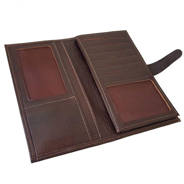 کیف پول مدیران چرم مردانه زبانه دار سه لت