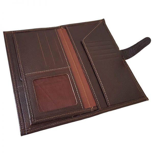 کیف پول مدیران چرم طبیعی مردانه زبانه دار 3 لت