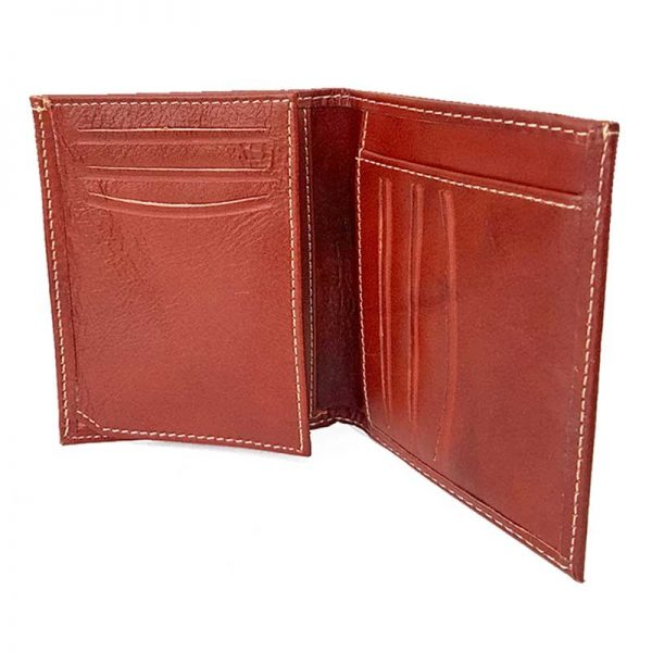 کیف پول جیبی چرمی مردانه قهوه ای