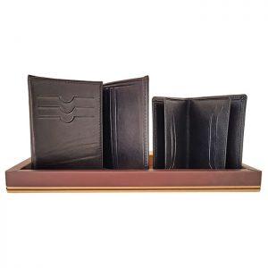 ست کیف پول چرم و جارکارتی چرمی مردانه