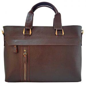 کیف اداری چرم طبیعی زنانه مدل دو دسته چرمی