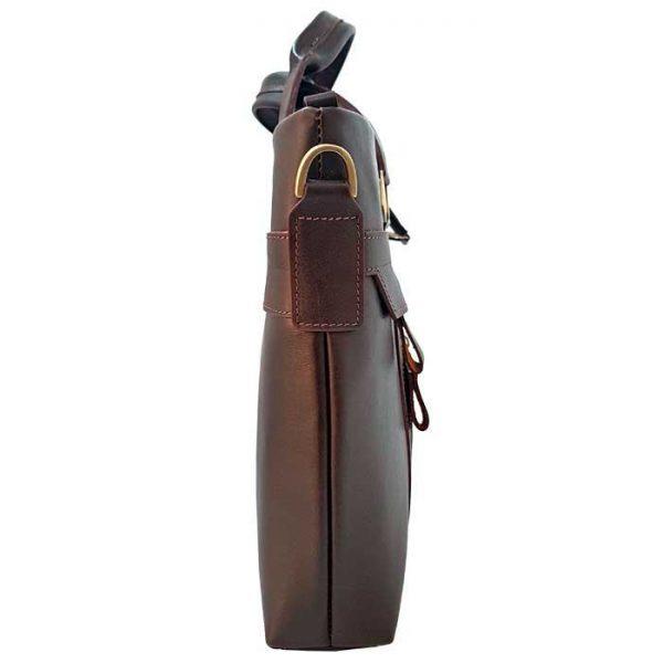 کیف اداری چرم طبیعی زنانه مدل دو دسته قهوه ای سوخته