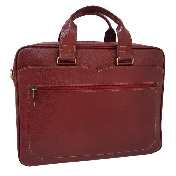 کیف اداری و لپ تاپ چرم فلوتر گاوی زرشکی