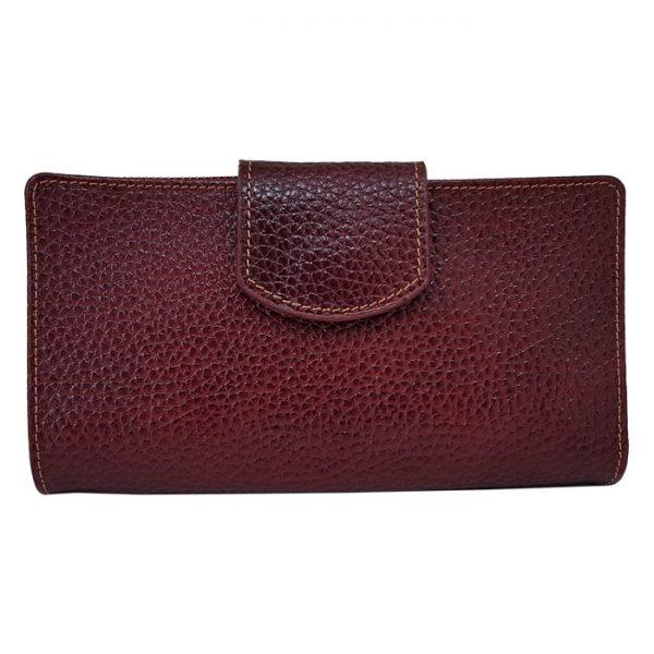 کیف پول چرم زنانه زرشکی