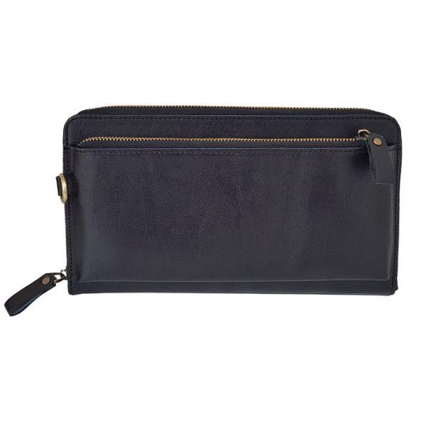 کیف پاسپورتی چرم طبیعی مشکی