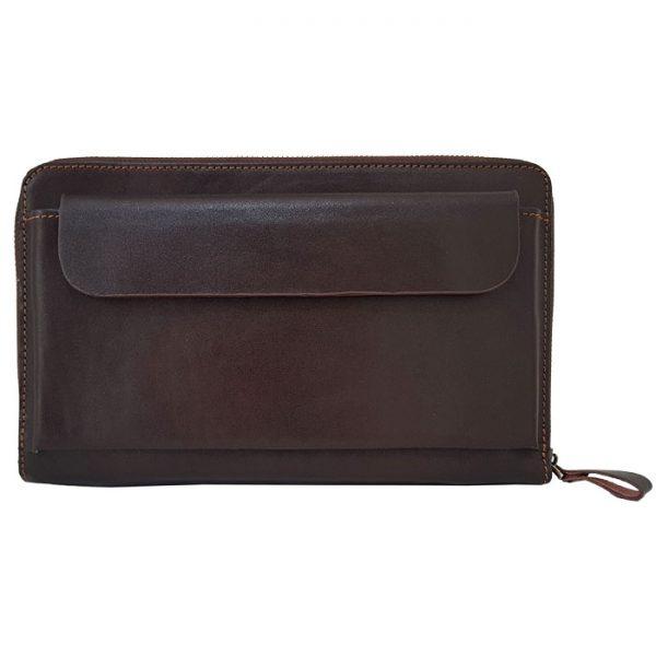 کیف پاسپورتی چرم مردانه قهوه ای
