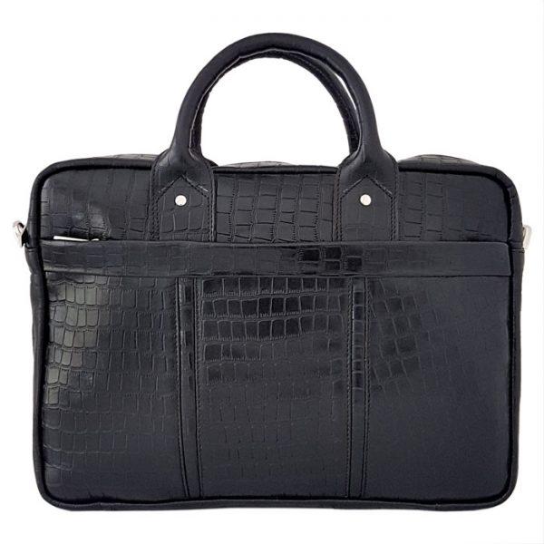 کیف اداری و لپ تاپ چرم طبیعی طرح سنگی