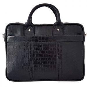 کیف اداری و لپ تاپ چرم طبیعی طرح سنگ