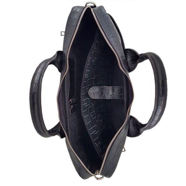کیف لپ تاپ چرم طبیعی طرح سنگی