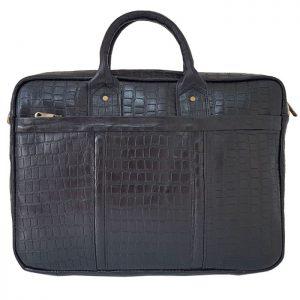 کیف اداری لپ تاپ چرمی طرح سنگی فاخر