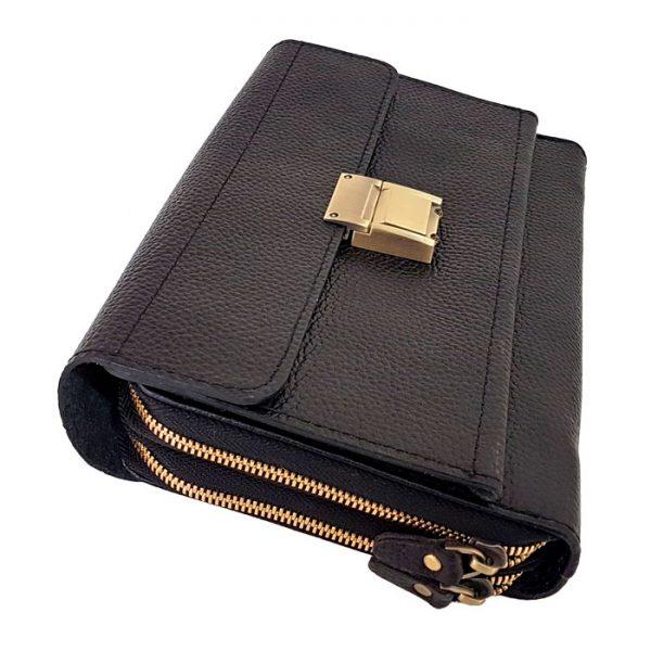 کیف پاسپورتی قفل دار چرم مردانه
